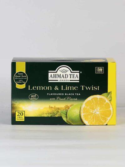 A box of lemon and lime flavored black tea