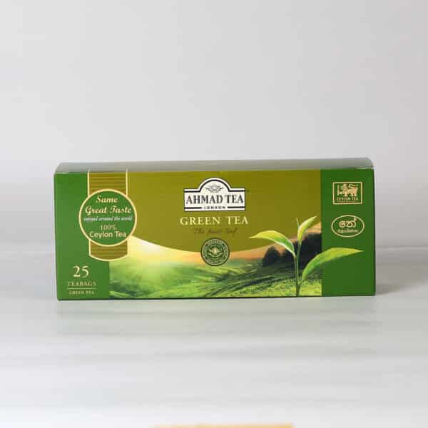 A box of the finest green tea bags