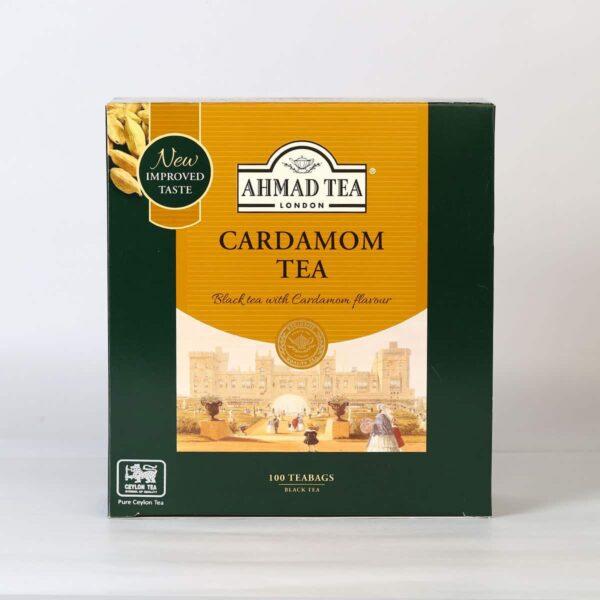 A cardamom spice flavored black tea