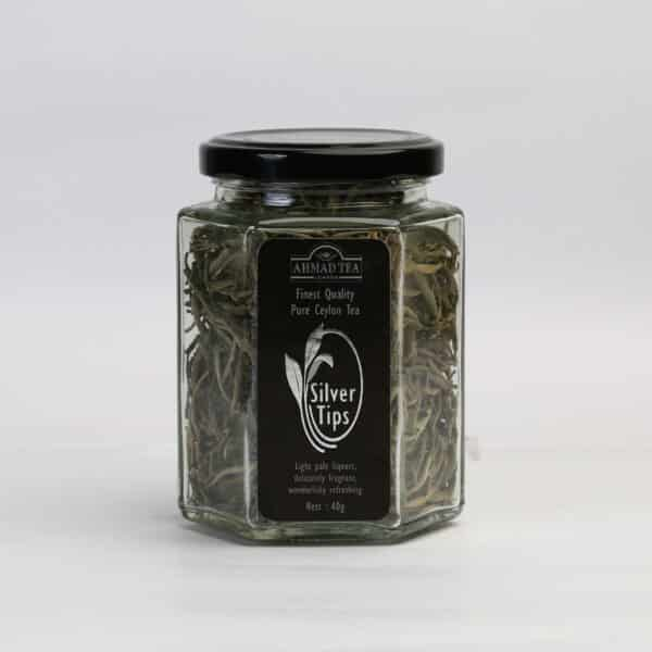 Silver Tips Glass Jar 40g