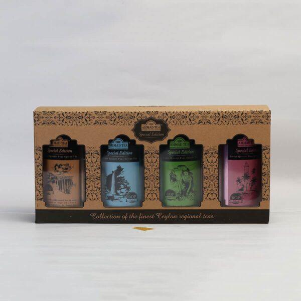 Box of regional Ceylon teas